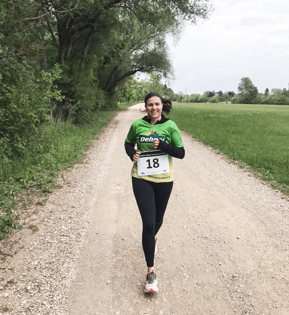Franziska joggen Firmenlauf
