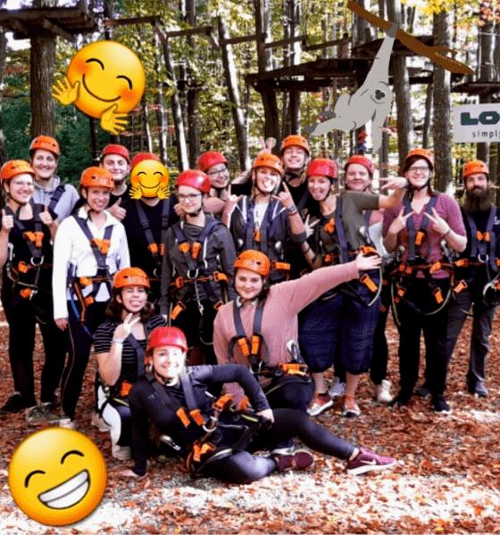 Dehner Ausbildung Azubi Weiterbildung Junior-Kolleg Klettergarten Vertrauen Wertschätzung Teambuilding